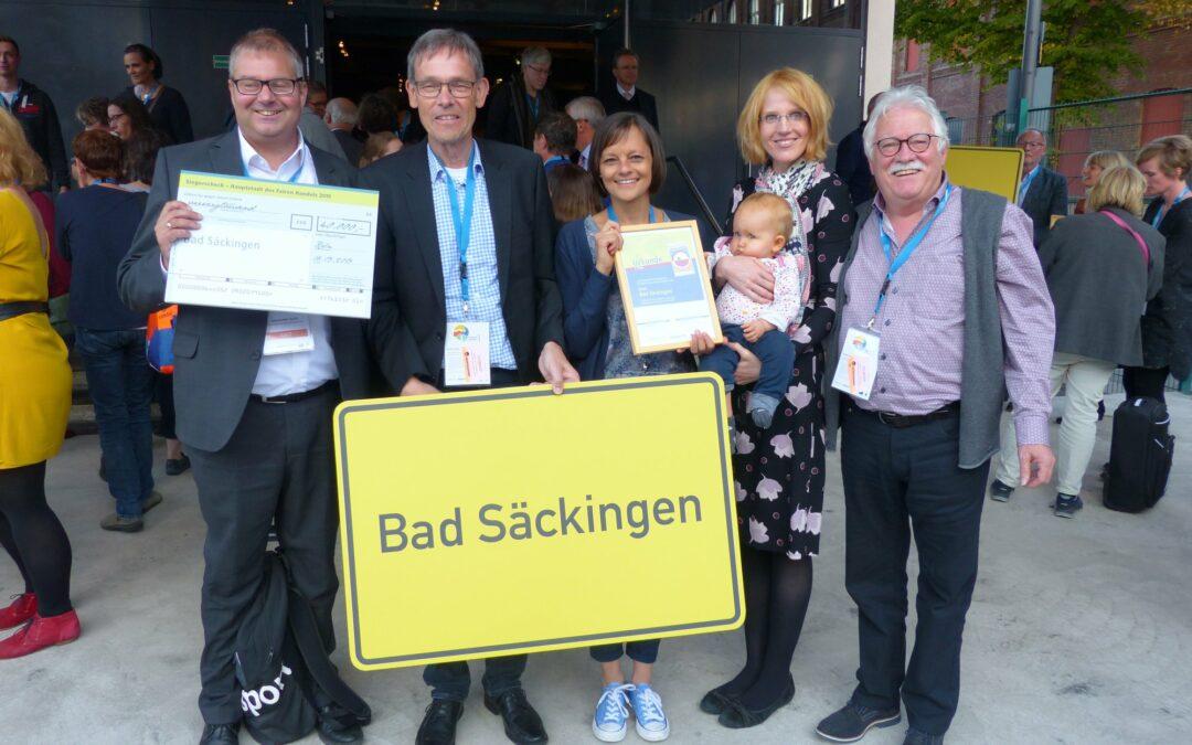 """Bad Säckingen gewinnt den zweiten Platz beim Wettbewerb """"Hauptstadt des Fairen Handels"""""""
